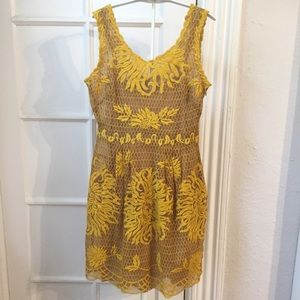 Yoana Baraschi Dresses - Yoana Baraschi yellow embroidered dress 2